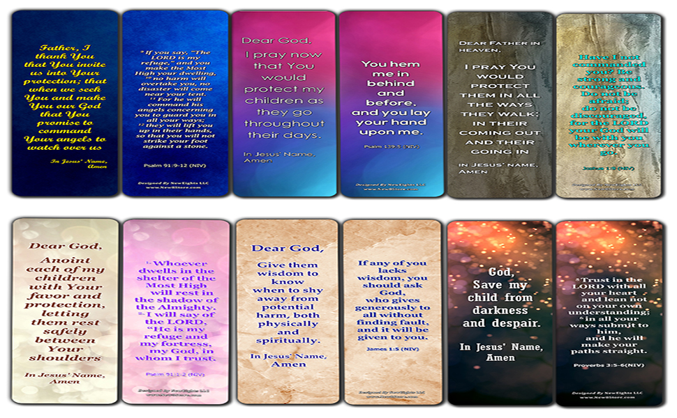 Pray Over Your Children Bookmarks