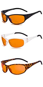 Blue Blocking Amber Glasses for Sleep Nighttime Eye Wear Special Orange Tinted