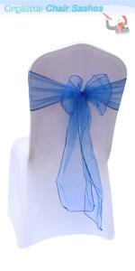 Royal Blue chair sashes