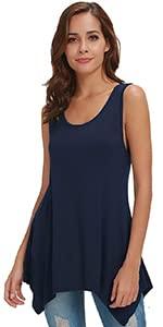 women tank tops black women sleeveless tunic plus size women tops summer office workout flowy dress