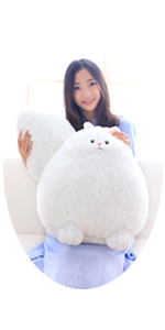 20 INCHES GIANT WHITE CAT STUFFED ANIMAL TOY