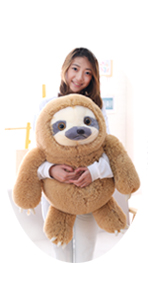 27.5 INCHES GIANT SLOTH STUFFED ANIMAL TOY