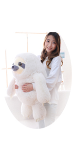 27.5 INCHES GIANT IVORY SLOTH STUFFED ANIMAL TOY
