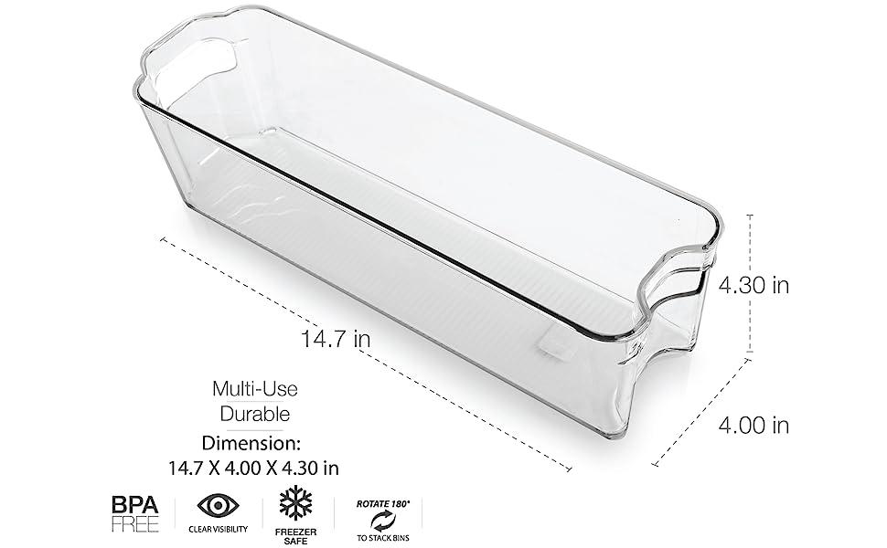 Plastic Organizer Storage Bins Pantry Organization Storage Refrigerator Organizer Bins Fridge