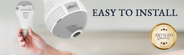 light camera security home wireless ip 360 2Mp bulb camera wifi 1080p hidden camera baby monitor