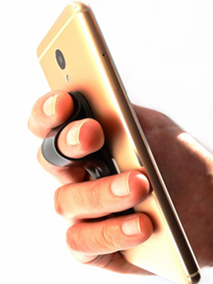 Small Tablets Frienda 4 Pieces Finger Strap Phone Holder Elastic Finger Holder Cell Phone Grip Holder Finger Strap with Stand for Smartphones