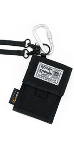 rough enough small coin pouch with expandable pocket for coins lockable carabiner clip wristlet band