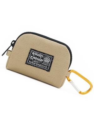rough enough CORDURA EDC mens boys coin pouch change purse with YKK zipper carabiner clip for travel