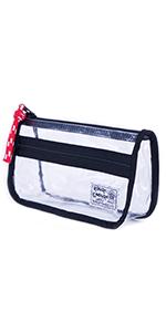 Rough Enough Clear Cute Pencil Case Makeup Organizer TSA Approved Toiletry Bag Clear Zipper Pouch