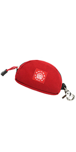 rough enough red small coin pouch change purse key car fob credit card holder for men boy kid girl