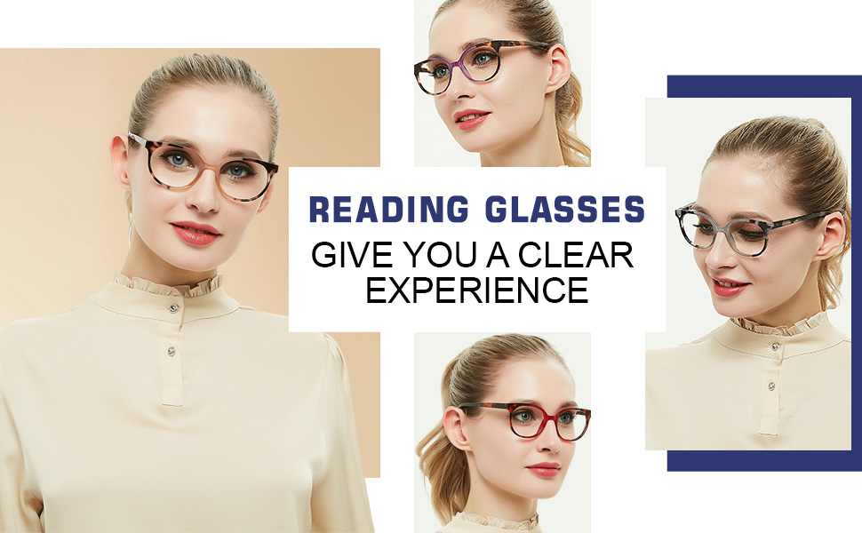 Eye Reading glasses with 4 colors(brown gray red purple,100 125 150 175 200 225 250 275 300 325 350)