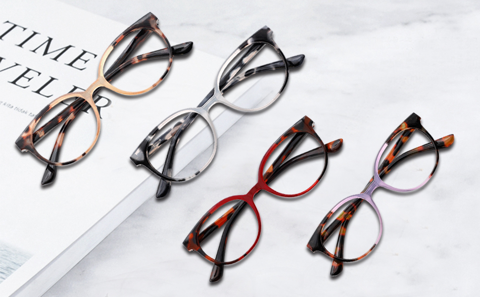 Round stylish design lightweight readers for women lentes para mujer