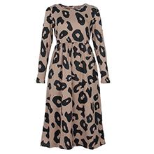 leopard print knee length dress