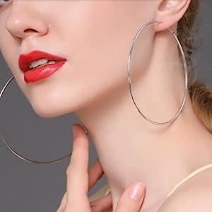 Girl Hoop earrings