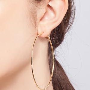 women hoop earrings