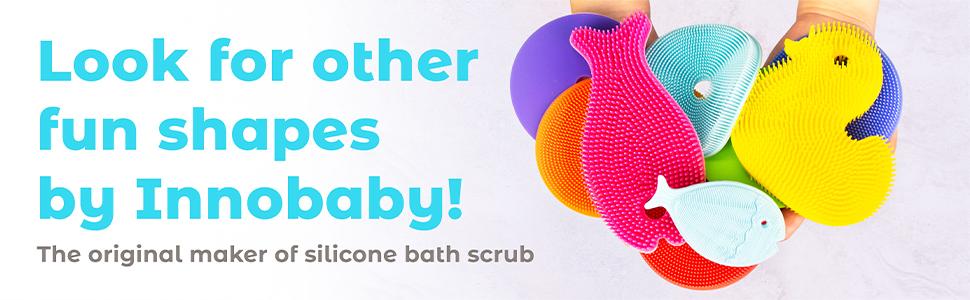 innobaby, mini fish, fish, bath, bathtime, bath scrub, silicone, silicone scrub
