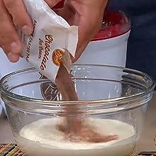 pour mix into bowl