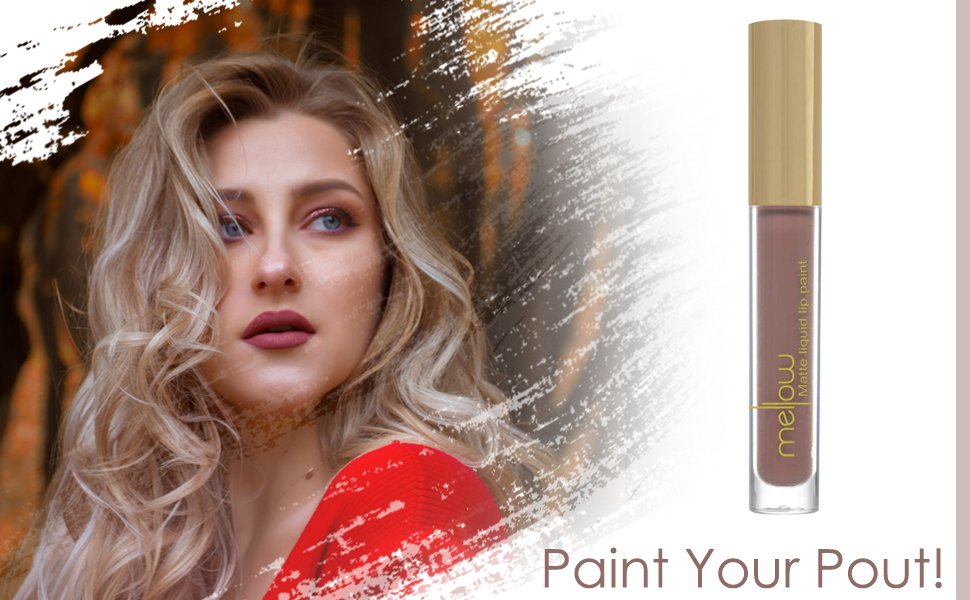 liquid lip paint mellow cosmetics lip paint matte liquid lipstick velvet matte