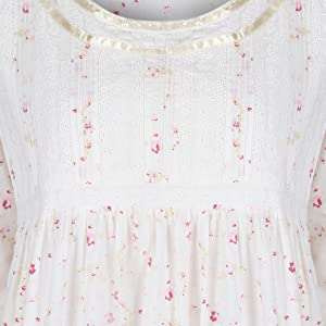 The 1 for U Womens Victorian short sleeve Nightgown Helena