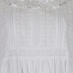 The 1 for U 100% Cotton Womens Plus size  White Nightgown Helena
