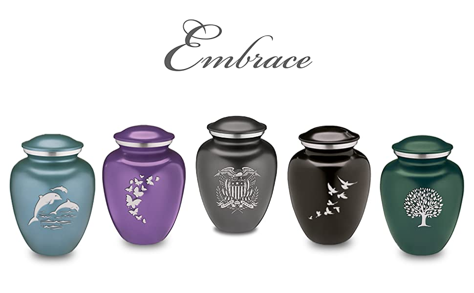 Embrace collection of Cremation Urns