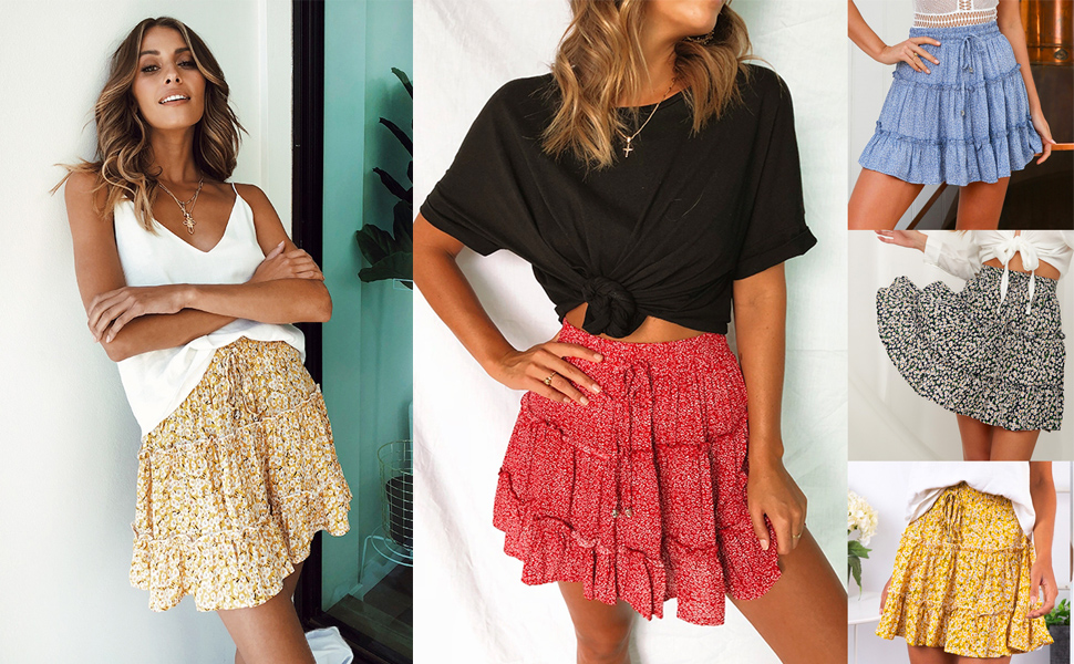 ruffle mini skirts