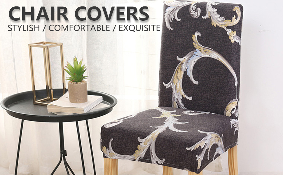 spandex chair seat slipcovers washable removable upholstered stretch dining room chair seat covers