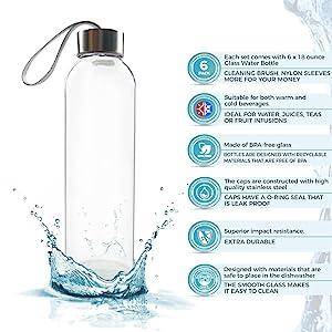 glass water bottler for juicing filter water juicer drinking  juice container storage glasses tea