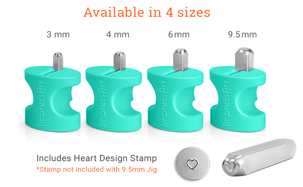 ImpressArt Metal Stamps Hand Stamping Simple Strike Jig