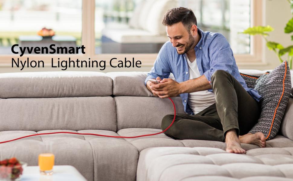 cyvensmart nylon lightning cable