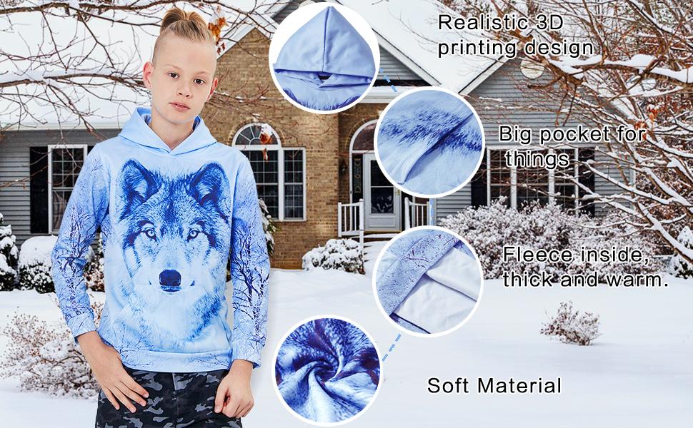 kids hoodie details