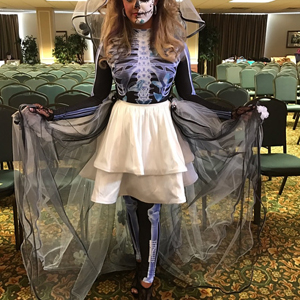 women halloween skeleton costume