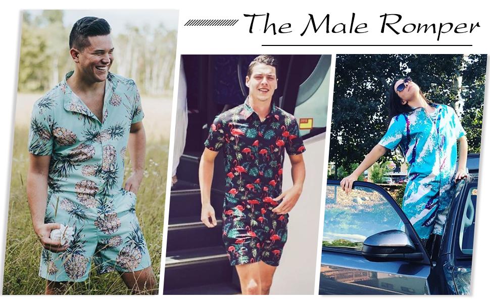 fashion romper for men