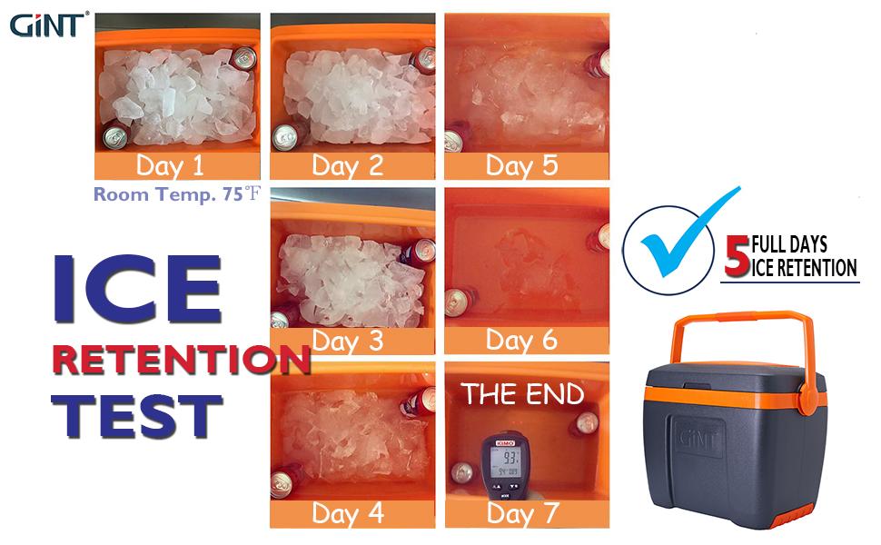 Handle Cooler 30qt Ice Retention Test