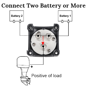 Connect two battery or more