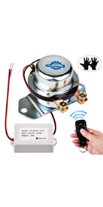 DC12V Car Wireless Remote Control Battery Disconnect Switch 180Amp for Van RV Small Truck Vehicle