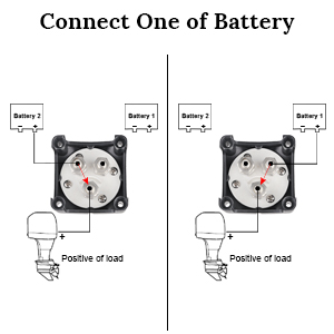 Connect one of battery