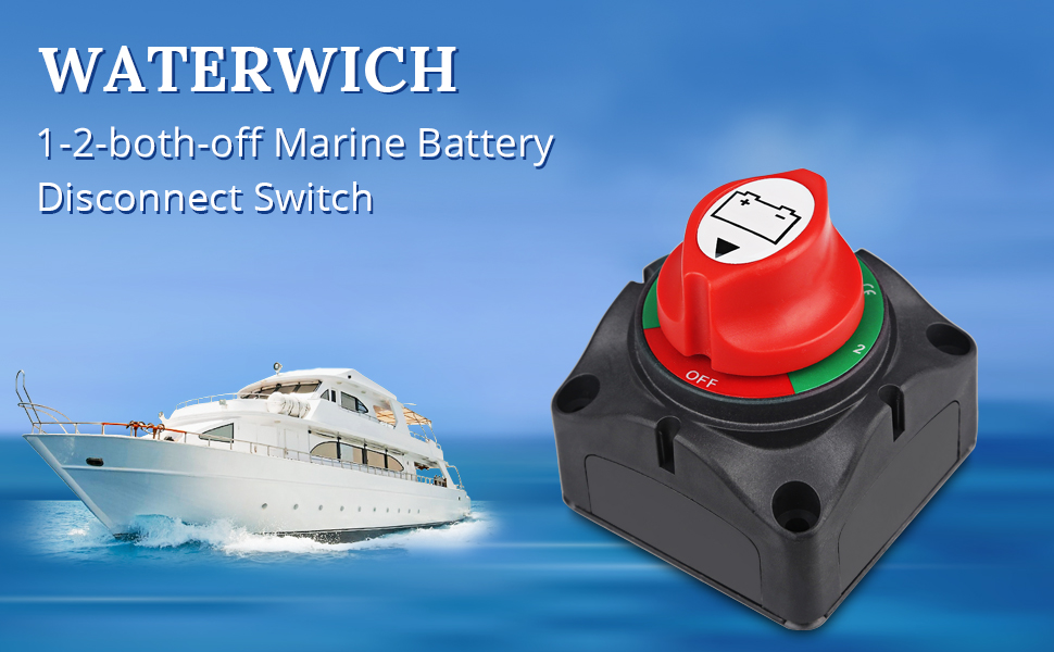 WATERWICH 1-2-both-off Marine Battery Disconnect Switch