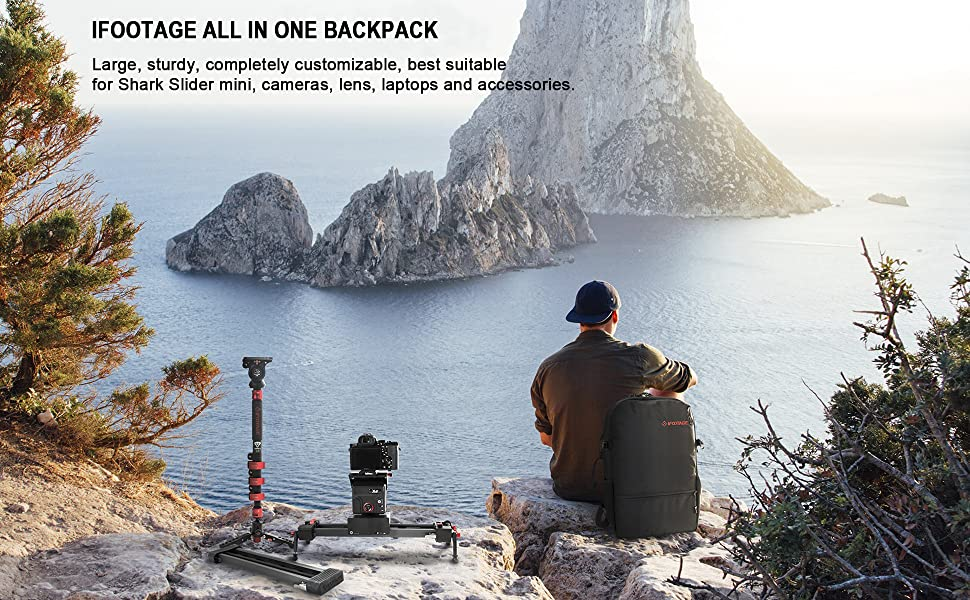 IFOOTAGE DSLR Camera and Shark Slider mini Backpack