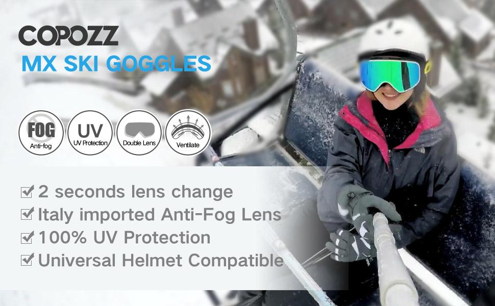 MX ski goggles
