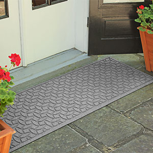 groove trap non-slip skid-resistant industrial strength backing recycled material sustainable tile