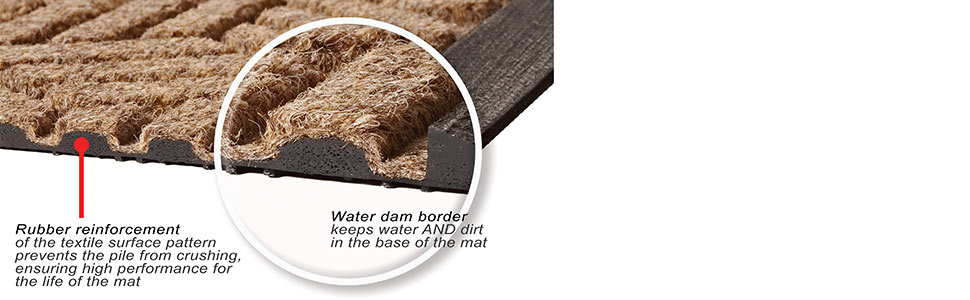 rubber reinforcement reinforced extra heavy-duty lining waterproof water-resistant rot-proof thick