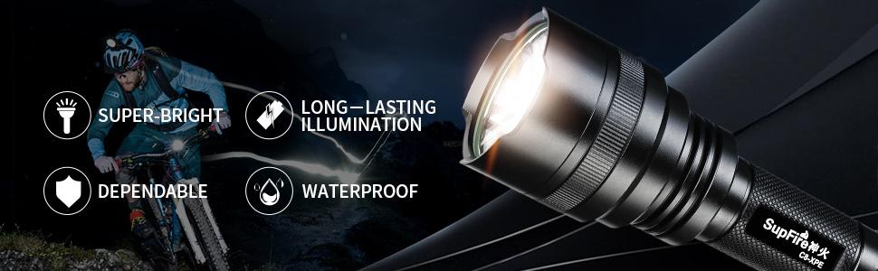 C8-XPE flashlights