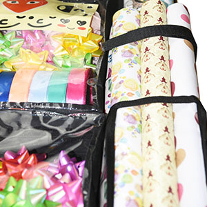 wrapping paper rolls bag