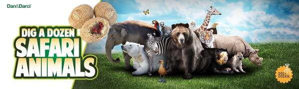 Dig a Dozen Safari Animals