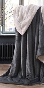 Grey Sherpa blanket