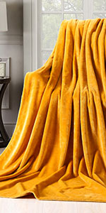 Ginger Flannel Blanket
