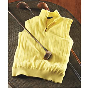 golf apparel, sweater vest, pullover, merino wool, golf club