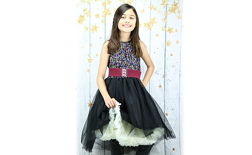 malco modes bellasous dresses fun kids skirts spirit cheer party costume tutu fluffy colorful soft