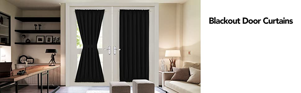 blackout curtains for doors